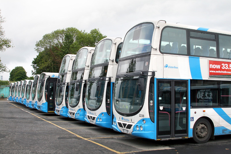 A lineup of wrightbuses - Lisburn - May 2011  - [ Paul Savage ]