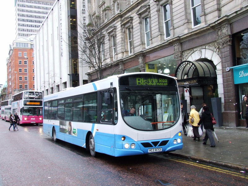 Yet another ble Scania on Metro - 713 - DSW - February 2011 - [ Stephen McKinstry ]