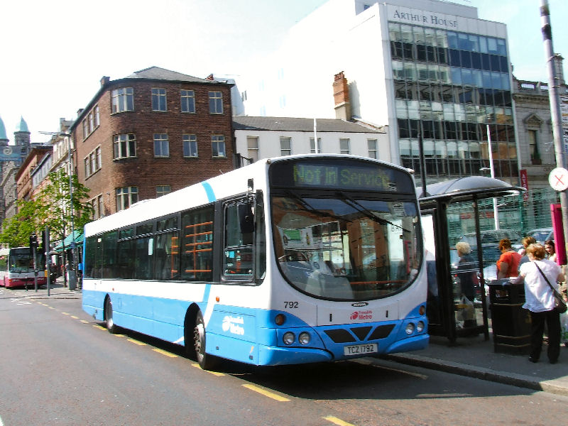 Ulsterbus Scania 792 on loan to Metro - Chichester Street - May 2011  - [ Stephen McKinstry ]
