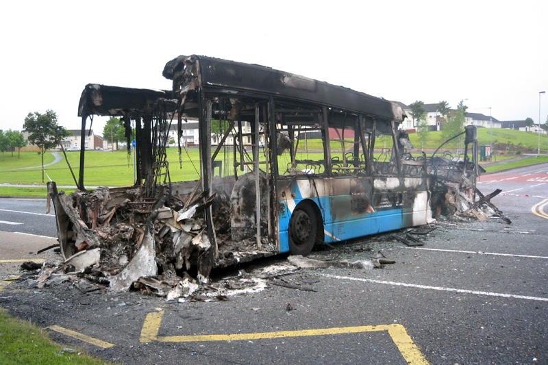 Remains of Scania 2405 - Derry - May 2011  - [ Stephen Baxter ]