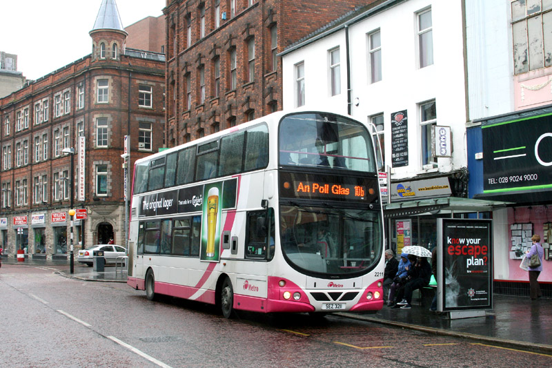 Volvo 2211 with Irish language screen - Queen Street - Apr 2011  - [ Paul Savage ]