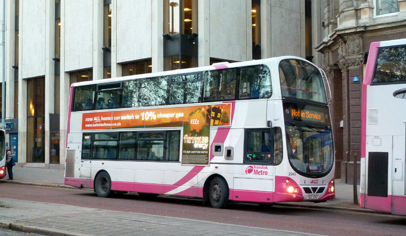 Volvo B9 2343 with illuminated advert - DSW - Nov 2011  - [ Paul Savage ]