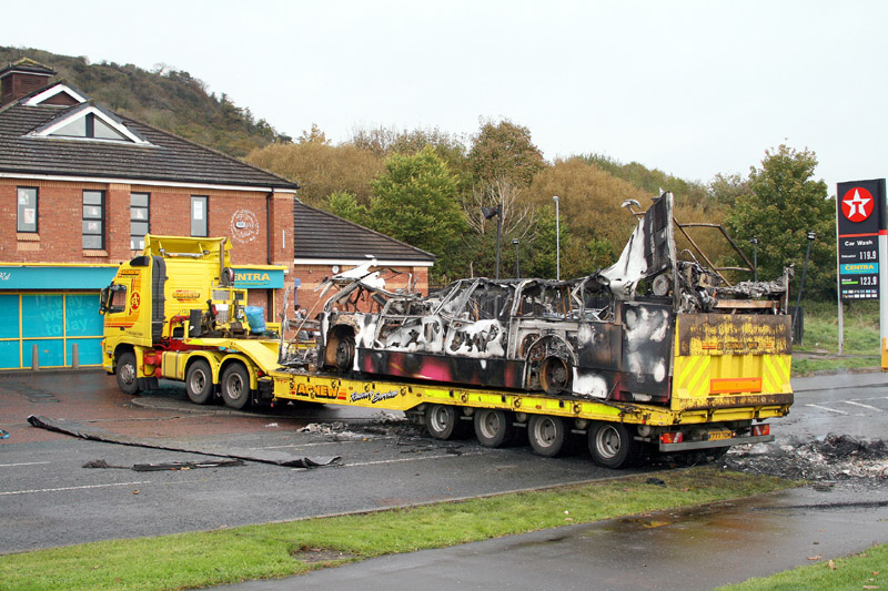 The remains of 2903 are recovered by Agnews - Rathcoole - October 2010 - [ Paul Savage ]