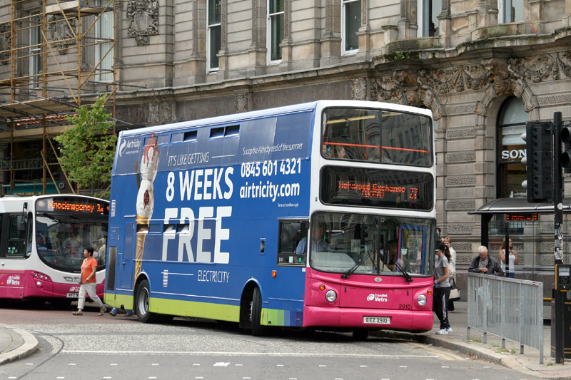 Volvo B7TL 2910 Airtricity Advert - DSW -  Aug 2013 [ Paul Savage ]